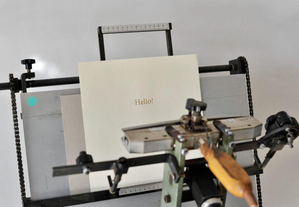 Eine individuelle Prägung macht das Produkt einzigartig.