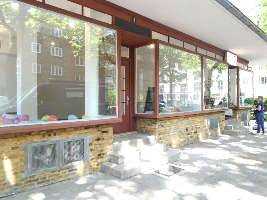 Werkstatt und Laden in der Bunsenstraße 2-4
